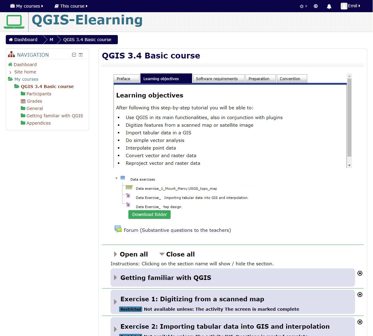 Introduction – Learning Qgis